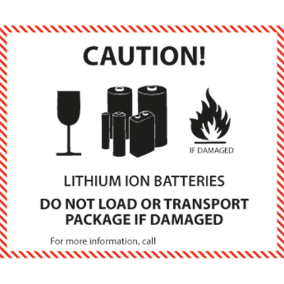 Etiquetage de manutention Lithium Ion / Metal Battery